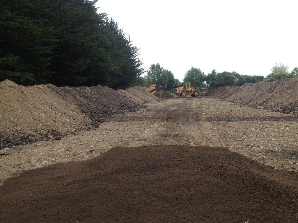 New all purpose arena 65m x 35m screened topsoil surface for Screened soil